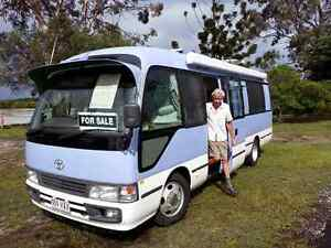 2002 Toyota Coaster Deluxe Motorhome Tin Can Bay Gympie Area Preview