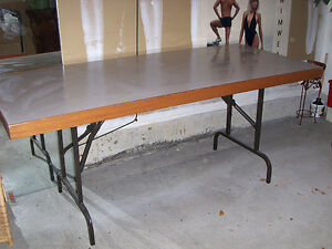 Table, utility with folding legs