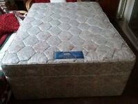 Silent Night Double Bed including mattress all good condition no marks Redcar Ings £50
