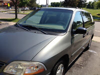 2002 Ford Windstar green Minivan, Van