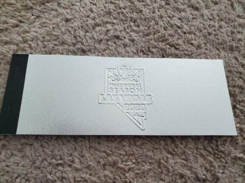 Las Vegas Raiders 2020 Season Ticket Booklet - CLUB LOWER  MINT Full UNTORN Book