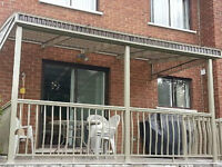 Vente et istallation de rampe escalier plancher en aluminium
