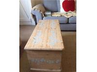 Solid pine storage chest