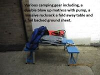 Various camping gear in good condition just dusty