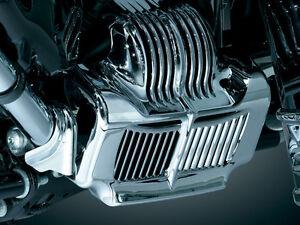 Kuryakyn-Chrome-Stock-Oil-Cooler-Cover-for-11-15-Touring-models