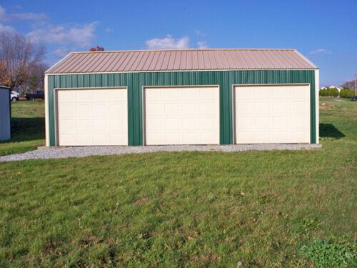 GALVANIZED STEEL INSULATED 3-CAR GARAGE - METAL BUILDING - Shop KIT