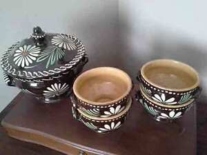Vintage Soufflenheim French Country Pottery Soup Tureen & Bowls Kingston Kingston Area image 1