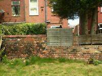 Removal of garden wall and replace with fence