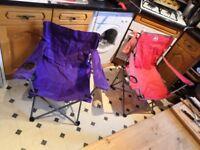Two Camping Chairs, Eurohike x 1, Tesco x 1