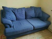 Blue double bed sofa bed