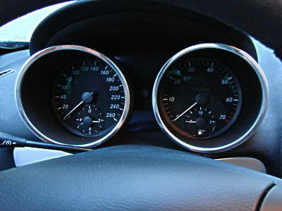 Mercedes Benz SLK R171 280 200 350 AMG Brabus Tacho Tachoringe Aluminium