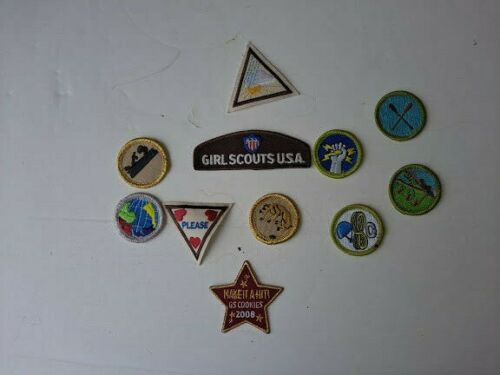 Girl Scouts Vintage Patches ~2006-2008 Lot of 12