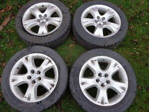 205/55R16 Snow Tires on Toyota Factory Alloy Wheels