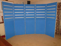 Exhibition display boards - 5 panel unit with slot fittings