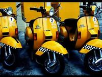Private Vespa Chauffeur / vespa taxi / airport driver looking for work