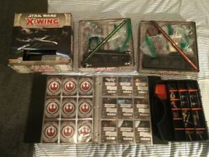 Star Wars X-Wing Miniatures Collection with 2 Starter Sets