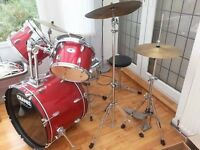 Full size Crane's Drum Kit with silencers, stool and sticks. Over £350 new. £120