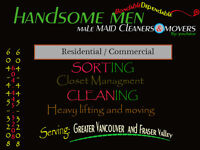 Male Maid Service- Moving, cleaning and more. Let us do the work
