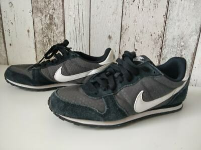 Black suede Nike Gym trainers Running Shoes sneakers Uk 4 for sale  Shipping to Nigeria