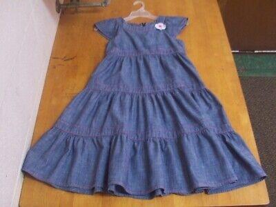 Gymboree Cute Tiered Denim  Dress-Sz. 10