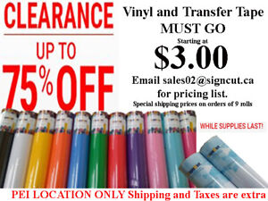 BLOW OUT SALE Starting at 3.00- VINYL AND TRANSFER TAPE