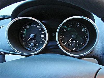 Polished Tacho Rings Mercedes Benz SLK R171 Alu Ornamental Frame Trim Gauge