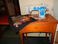 Sewing Machine, BROTHER project 111, with Sewing cabinet