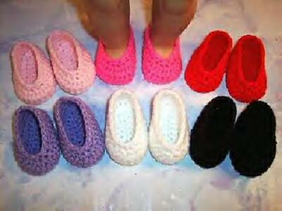 6 Pairs Of Hand Crochet Shoes For The American Girl Doll on Rummage