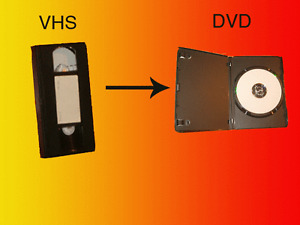 Service offered for converting VCR-VHS family videotapes to DVD