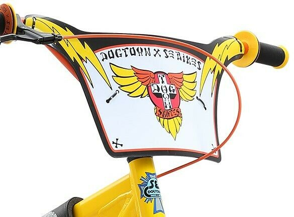 """Nouveau SE Bikes Racing Rad BMX Cruiser NUMBER PLATE ROUGE /& OR 10/"""" BIG klaxonner /""""bars"""
