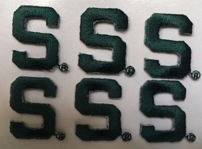 Michigan State University Spartans Iron On  S  Patch  7 8  Tall  6 Pc  Lot