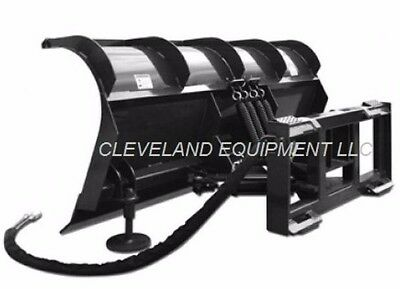 New 72 Hd Roll Top Snow Plow Attachment - Skid Steer Loader Tractor Blade