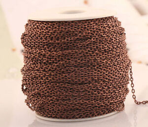 Hot 100/5 meters Plated Cable Open Link Iron Chain for necklace/bracelet