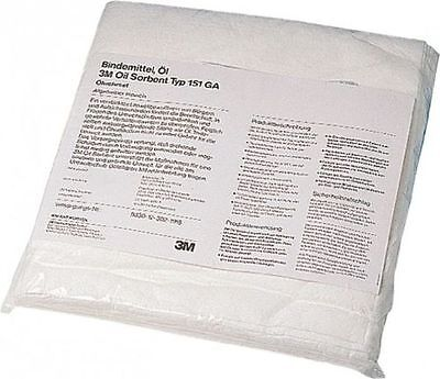 3M Petroleum Sorbent Pad T-151, Environmental Safety Product, 200 sheets