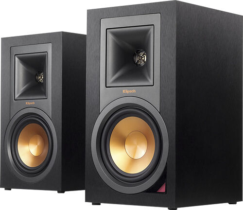 "Klipsch Reference 5.25"" 100W 2-Way Powered Bluetooth Monitors (Pair) Black R-15PM"