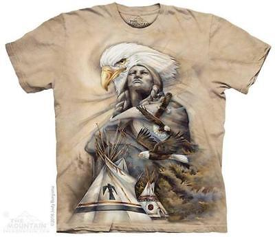(Indian Teepee Eagle Chief T Shirt The Mountain Native American Tee S-4XL 5XL  )