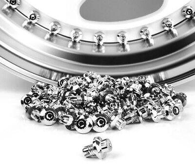 20 x Chrome Silver Plastic Wheels Rivets Nuts Rim Lip Replacement Alloys BBS Rep