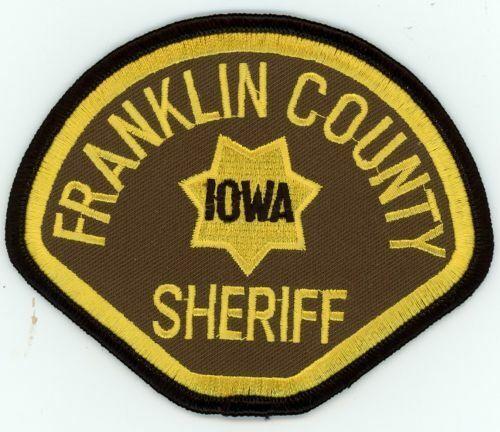 IOWA IA FRANKLIN COUNTY SHERIFF NEW SHOULDER PATCH POLICE