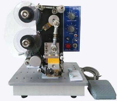New Semi-automatic Electric Coder Hot Stamp Ribbon Coding Printer Machine 220v