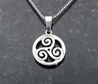 """Stainless Steel Triskelion pendant, """"The Journey"""" No chain"""