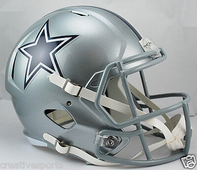 DALLAS COWBOYS RIDDELL FULL SIZE DELUXE REPLICA SPEED FOOTBALL HELMET 8035346