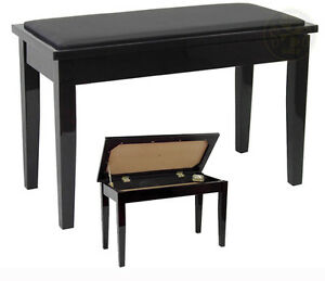 Duet Black Piano Bench CLEARANCE - MSRP $300