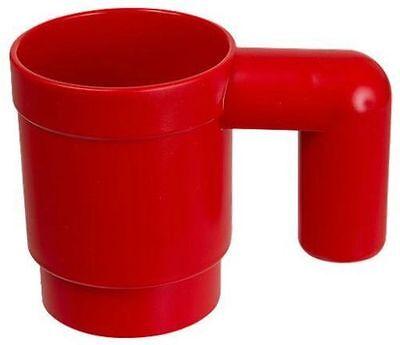 LEGO 1:1 Kaffeebecher Tasse 13x8cm Becher Trinkbecher Rot Red  stapelbar stable ()