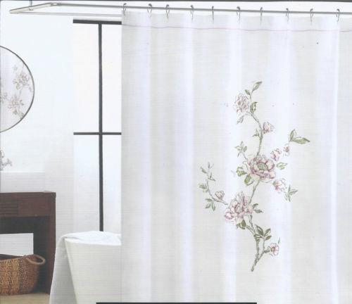 Pink Rose Shower Curtain | eBay