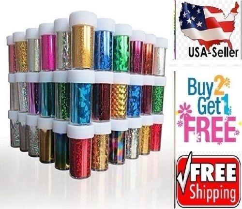 60 Colors Nail Art Tips Wraps Transfer Foil A* US SELLER * B