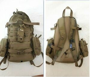 Tasmanian Tiger Pack Khaki With 3 Extra Pouches,