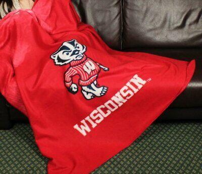 Wisconsin Badgers NCAA College Fleece Throw Blanket by Northwest (Wisconsin Blanket)