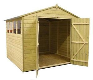 wooden garden sheds 8x8 - Garden Sheds Nottingham