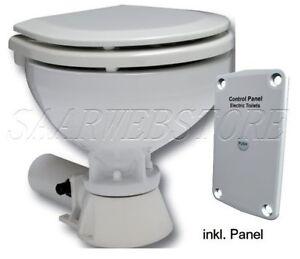Bord WC Allpa Toilette mit elektrischer Pumpe 12V, Komfortbecken Bootstoilette