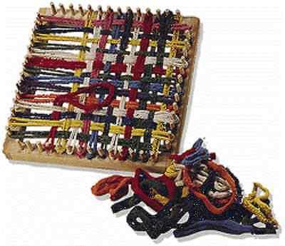 Folk Toys Classic Kid Wooden Weaving Weave Potholder Craft Wood Looper Loom T577 (Potholder Loom)